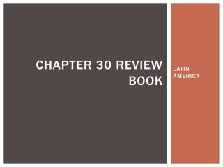 CHAPTER 30 review book