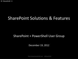 SharePoint Solutions & Features