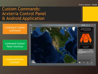 Custom Commands:  Arxterra  Control Panel  & Android Application