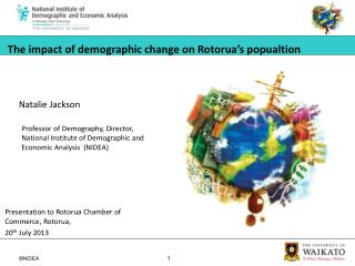 The impact of  demographic change  on  Rotorua's popualtion
