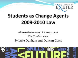 Students as Change Agents 2009-2010 Law