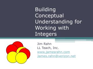 Building Conceptual Understanding for Working with Integers