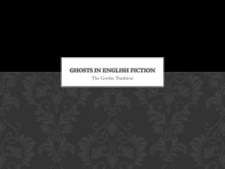 Ghosts in English Fiction