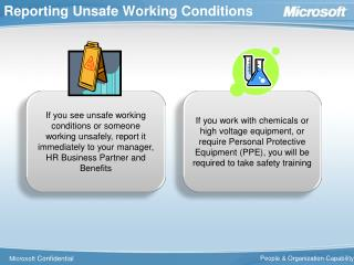 Reporting Unsafe Working Conditions