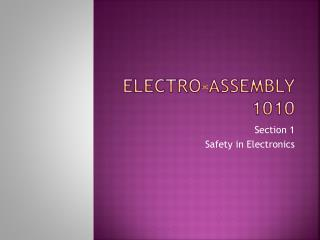 Electro-assembly 1010