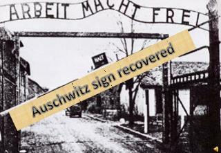 Auschwitz sign recovered
