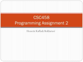 CSC458 Programming Assignment 2