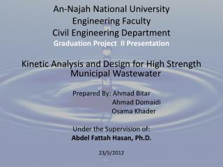 An-Najah National University Engineering Faculty Civil Engineering Department