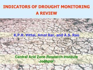 Central Arid Zone Research Institute Jodhpur