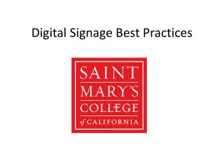 Digital Signage Best Practices