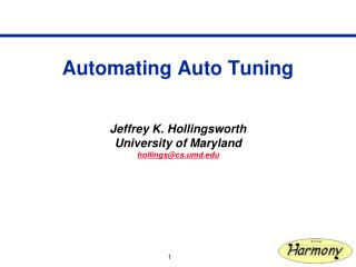 Automating Auto Tuning