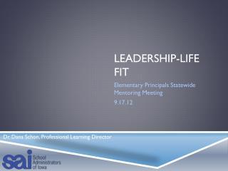Leadership-Life Fit