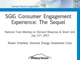SGIG Consumer Engagement Experience: The Sequel