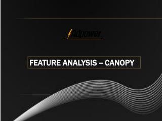 feature analysis -- canopy