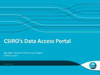 CSIRO's Data Access Portal