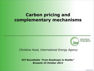 Carbon pricing and complementary mechanisms