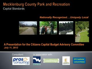 Mecklenburg County Park and Recreation  Capital Standards