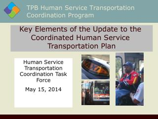 TPB Human Service Transportation Coordination Program