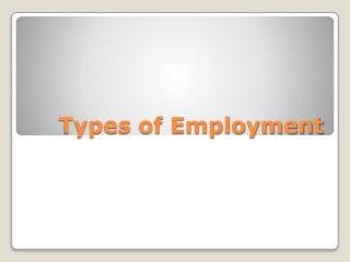 Types of Employment