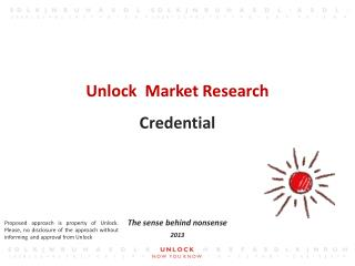 Unlock  Market Research Credential