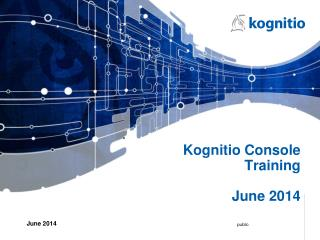 Kognitio Console Training June 2014