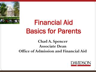 Financial Aid  Basics for Parents