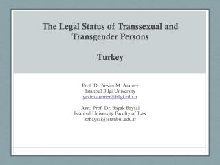 The Legal Status of Transsexual and Transgender Persons Turkey