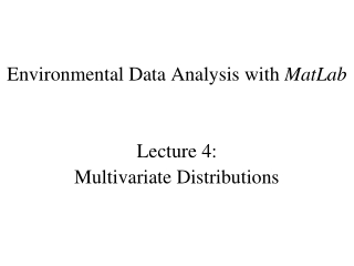 Lecture 2: Review of probability and distributions appendix A-C