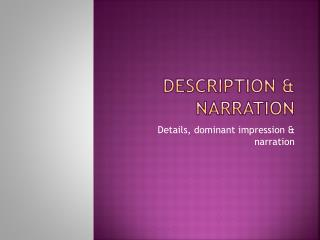 Description & narration