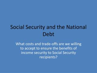 Social Security and the National Debt