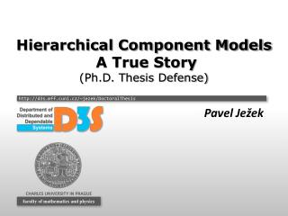 Hierarchical Component Models  A True Story (Ph.D. Thesis Defense)