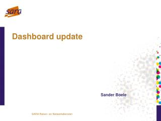 Dashboard update
