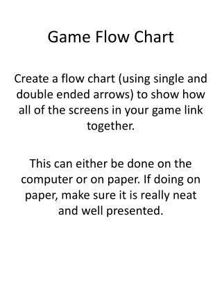 Game Flow Chart