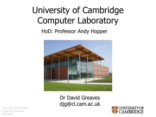 University of Cambridge Computer Laboratory