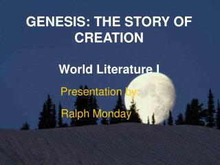 GENESIS: THE STORY OF CREATION
