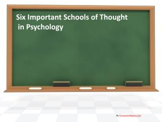 Six Important Schools of Thought  in Psychology