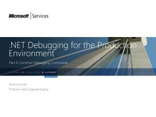 . NET Debugging for the  Production Environment