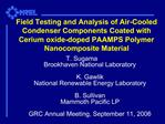 Field Testing and Analysis of Air-Cooled Condenser Components Coated with Cerium oxide-doped PAAMPS Polymer Nanocomposit