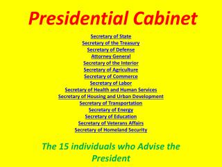 Presidential Cabinet