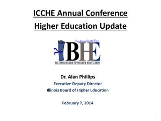 ICCHE Annual Conference Higher Education Update