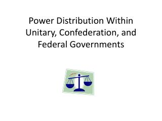 Power Distribution Within Unitary, Confederation, and Federal Governments