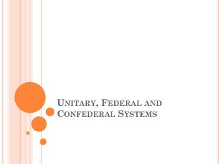 Unitary, Federal and  Confederal  Systems