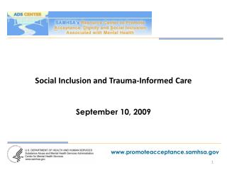 Social Inclusion and Trauma-Informed Care