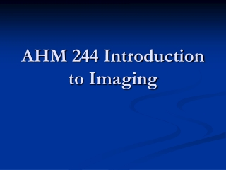 Diagnostic Imaging: Introduction