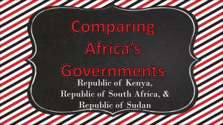 Comparing Africa's Governments