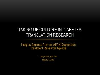 Taking Up culture in diabetes translation research