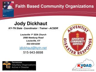 Faith Based Community Organizations