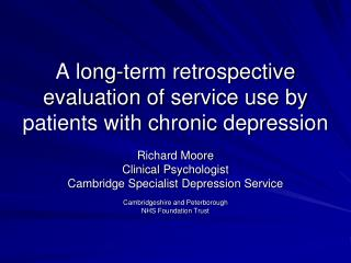 A long-term retrospective evaluation of service use by patients with chronic depression