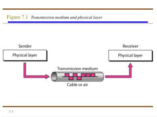 Figure 7.1   Transmission medium and physical layer
