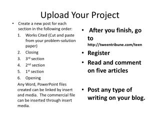 Upload Your Project